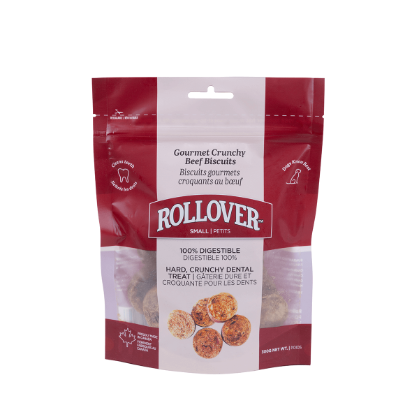 Rollover Premium Pet Food - 005 - Small Gourmet Crunchy Beef Biscuits 300g - 10-003-300