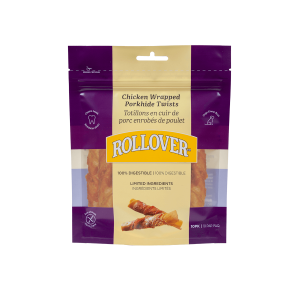 Rollover Premium Pet Food - 045 - Chicken Wrapped Porkhide Twists 10pk - PH-90P-10