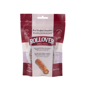 Rollover Premium Pet Food - 075 - Small Beef Stuffed Chewbies 2pk - 42-4S0-2