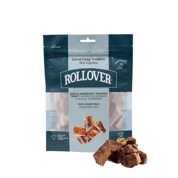 Rollover Premium Pet Food - 078 - Lamb Lung Tenders 125g w product - 20-125-1