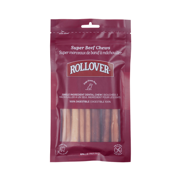 Rollover Premium Pet Food - 089 - Super Beef Chews 6pk - 30-65S-6