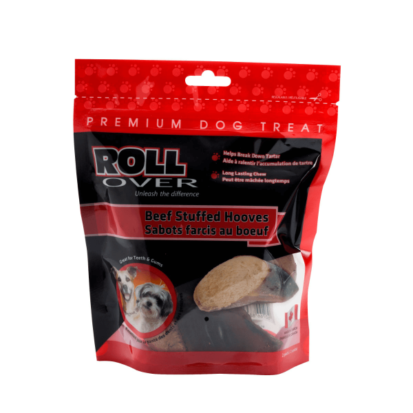 Rollover Premium Pet Food - 151 - Beef Stuffed Hooves - 2pk 61-200-B