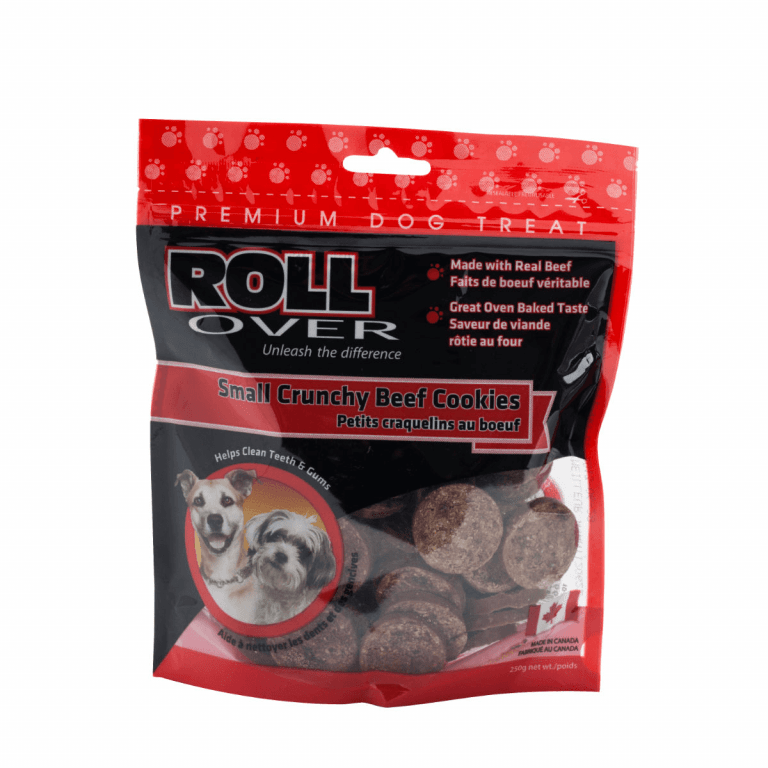 Rollover Premium Pet Food - 164 - Small Crunchy Beef Cookies - 250g 10-002-25B