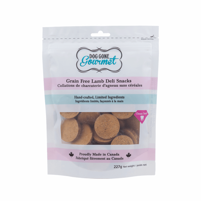 Rollover Premium Pet Food - 025 - DGG Grain Free Lamb Deli Snacks 227g - DG-160-04