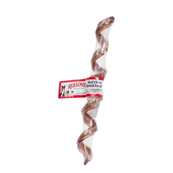 Rollover Premium Pet Food - 205 - PET Large Beef Chew Spirals 45-L00-1